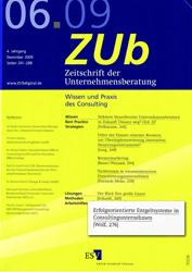 Fachartikel Zeitschrift der Unternehmensberatung 06 2009