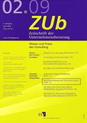 Fachartikel Zeitschrift der Unternehmensberatung 02 2009