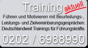 Training Leistungsbeurteilung Zielvereinbarung