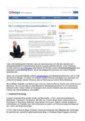 Fachartikel Die 9 wichtigsten Onlinemarketing-Basics