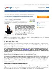Fachartikel Social-Media-Marketing - grundlegende Tipps
