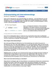 Fachartikel Onlinemarketing mit Unternehmensblogs