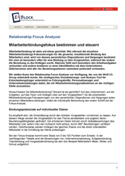 Fachartikel Relationship Fokus Analyzer