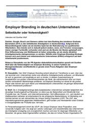 Fachartikel Employer Branding in deutschen Unternehmen