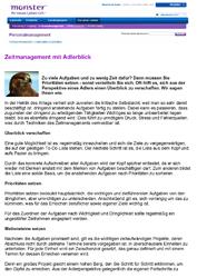 Fachartikel Zeitmanagement mit Adlerblick