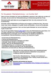 Pressespiegel Für Sie gelesen Mitarbeiterbindung – von Gunther Wolf