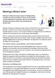Fachartikel Meetings effizient leiten