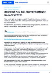Fachartikel Sprint agil Performance Management