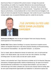 Veröffentlichung Interview Employer Branding